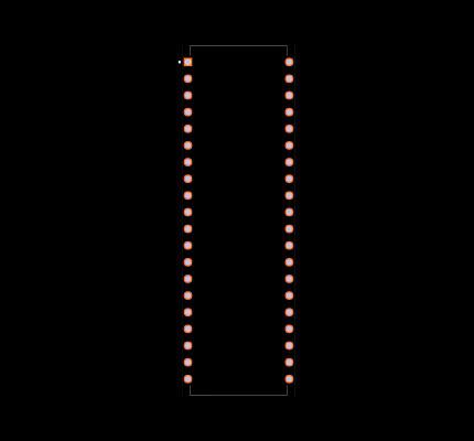 PIC18F4550-I/P Footprint