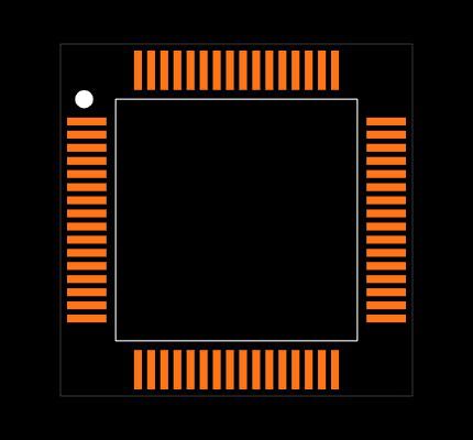 PIC24FJ256GB406-I/PT Footprint