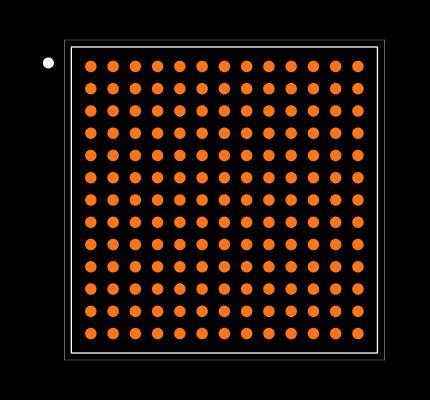 PIC32MZ2064DAB169-I/HF Footprint