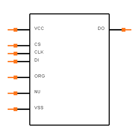 93LC46BT-E/SN Symbol