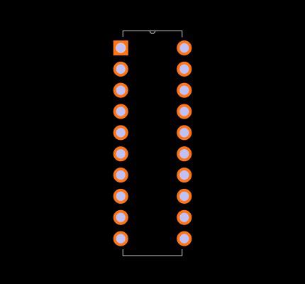 AT89C2051-24PU Footprint