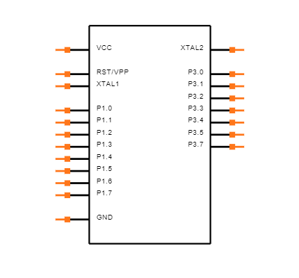 AT89C2051-24PU Symbol