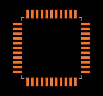 AT89C51ED2-RLTUM Footprint