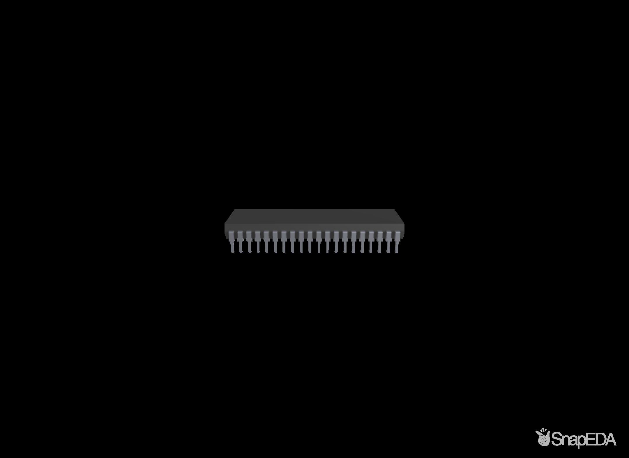 ATMEGA16A-PU 3D Model