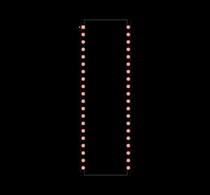 ATMEGA16A-PU Footprint