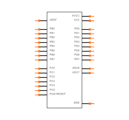 ATMEGA328-AU Symbol
