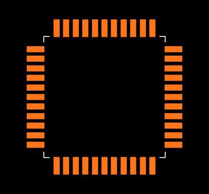 ATMEGA32A-AUR Footprint