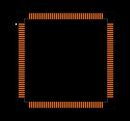 ATSAM3X8EA-AU Footprint