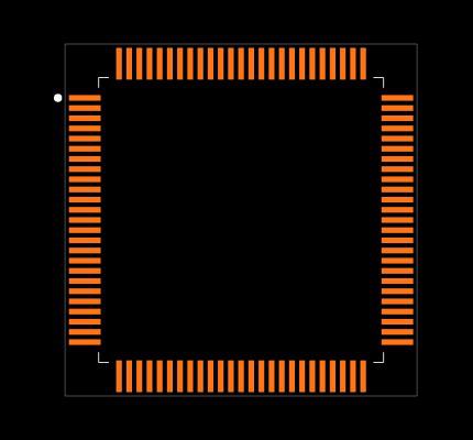 ATSAMS70N19B-ANT Footprint