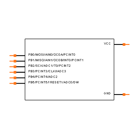 ATTINY13A-SUR Symbol