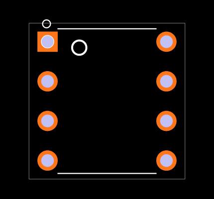 ATTINY85-20PU Footprint