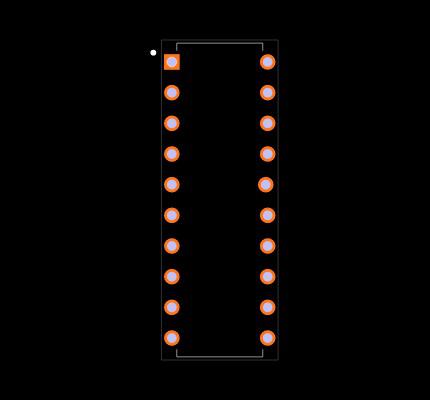 ATTINY861A-PU Footprint