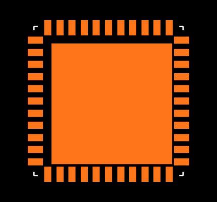 DSPIC30F4013-20E/ML Footprint