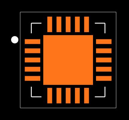 MCP73871-2AAI/ML Footprint