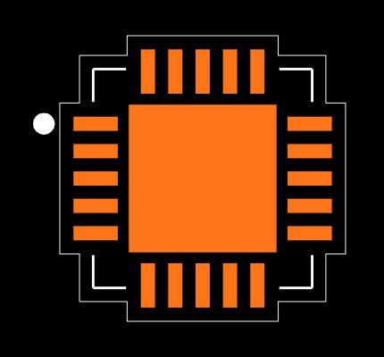 MCP73871T-2CCI/ML Footprint