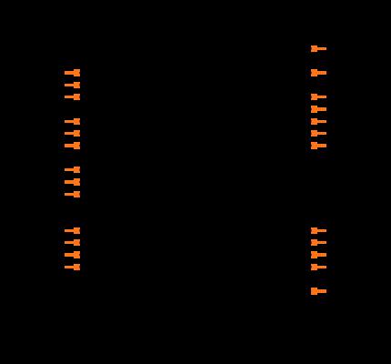 PIC16F73-I/SP Symbol