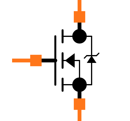 BSS138BKW Symbol