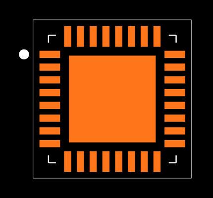 PCA8561BHN/AY Footprint
