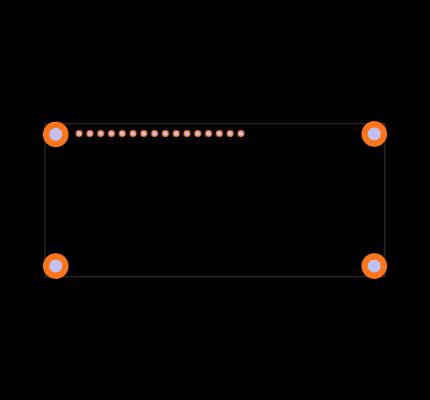 HD44780 Footprint