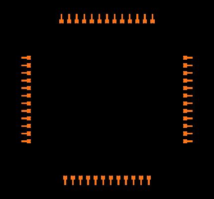 NRF51822-BEACON footprint & symbol by Nordic Semiconductor