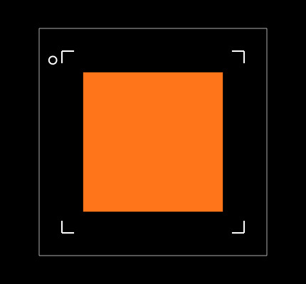 NRF51822-QFAA-T Footprint