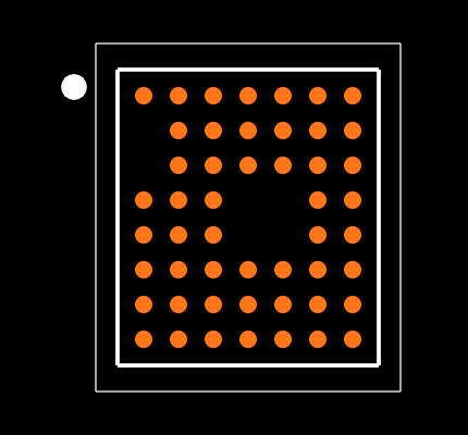 NRF52832-CIAA-R Footprint