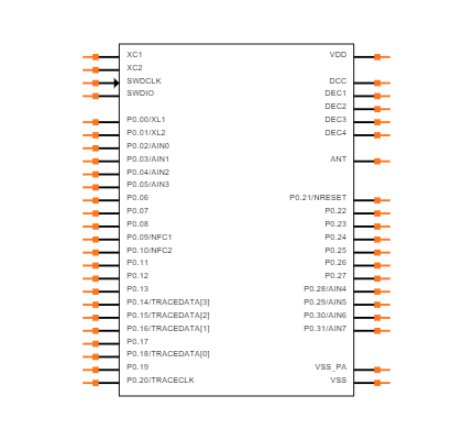 NRF52832-CIAA-R Symbol