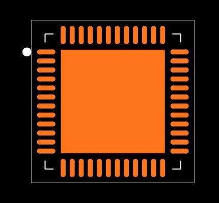 NRF52832-QFAB-R Footprint