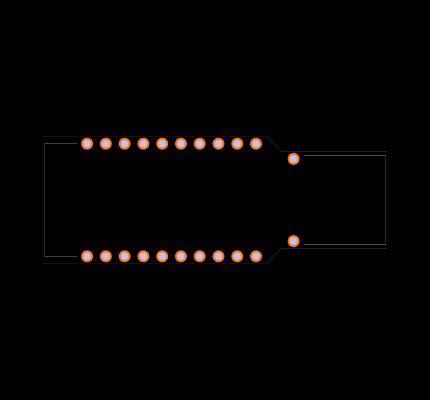 NRF52840-DONGLE Footprint