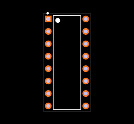 MC14518BCP Footprint