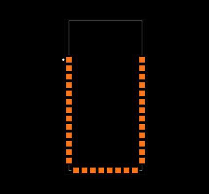 BLUETOOTH-SERIAL-HC-06 Footprint