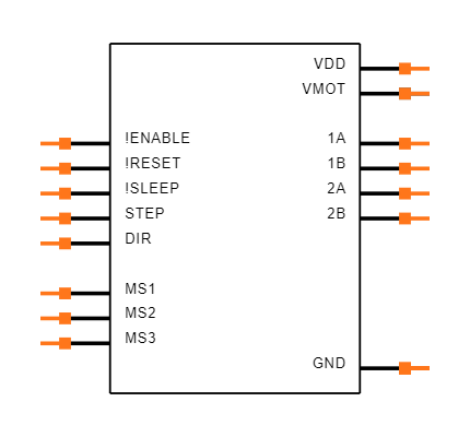 A4988 STEPPER MOTOR DRIVER CARRIER Symbol