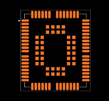 UG95EA-128-STD/UG95ENAR01A10E1G Footprint