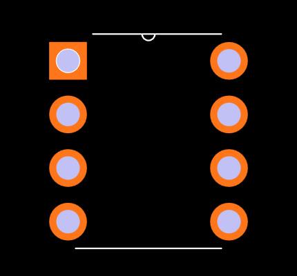ICL7660ACPA Footprint