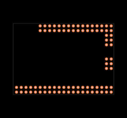 Mega Pro Embed CH340G / ATmega2560 Footprint