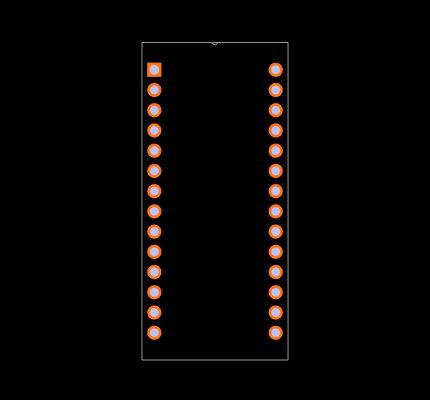 M48T08-100PC1 Footprint