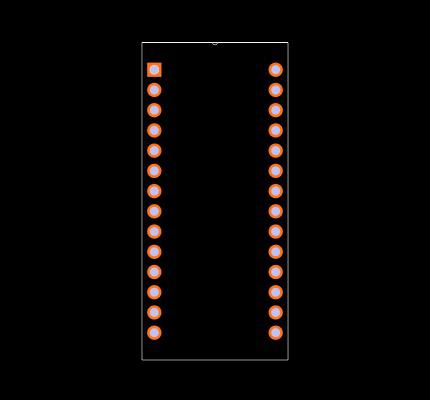 M48Z08-100PC1 Footprint