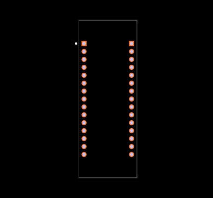 NUCLEO-F303K8 Footprint