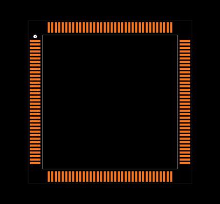 STM32F405ZGT6 Footprint