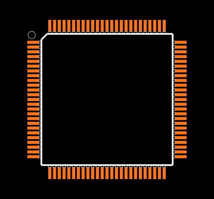 STM32F407VET6 Footprint