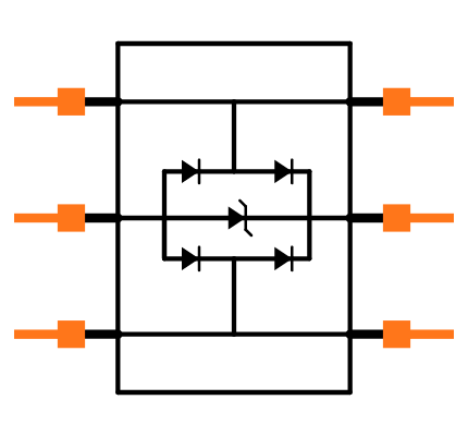 USBLC62P6 Symbol