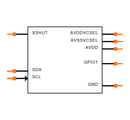 VL53L0CXV0DH/1 Symbol