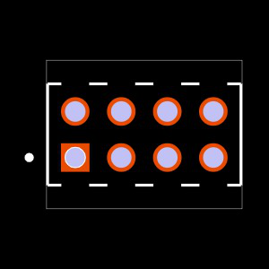 MTMM-104-02-T-D-013 Footprint