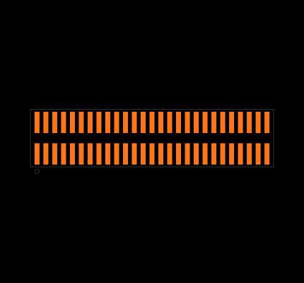 FTMH-127-03-L-DV Footprint