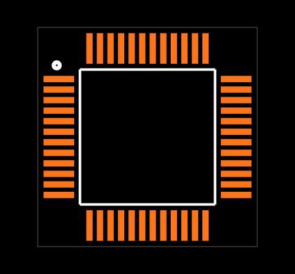 C8051F006-GQ Footprint