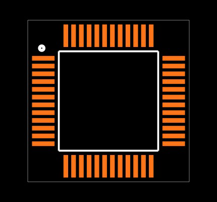 C8051F340-GQR Footprint
