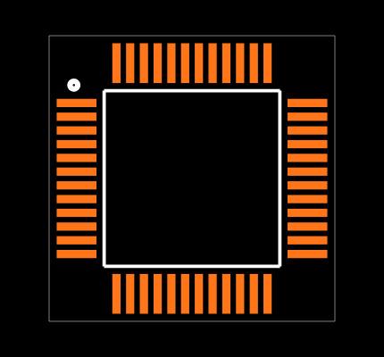 C8051F380-GQ Footprint