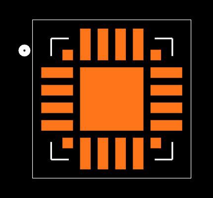 CP2102N-A01-GQFN20 Footprint