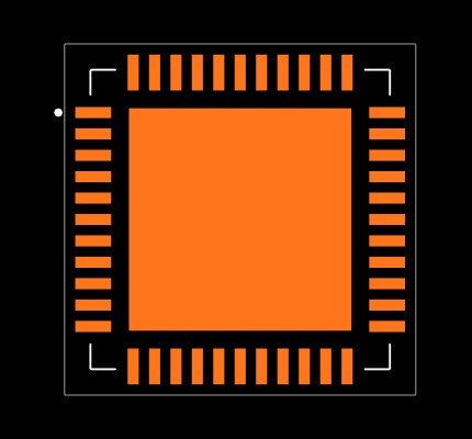 SI5340A-D-GM Footprint