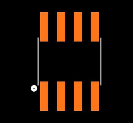 MSGEQ7 footprint & symbol by SparkFun Electronics | SnapEDA